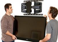 Монтаж ЖК телевизора на стену 80 дюймов и более